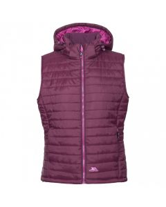 Trespass Aretha Women's Hooded Padded Gilet - Potent Purple