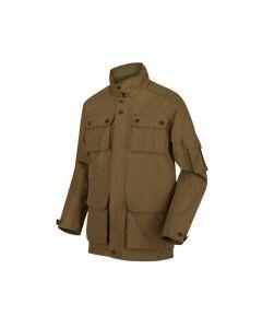 Regatta Elmore Men's Waterproof Cargo Jacket - Dark Camel