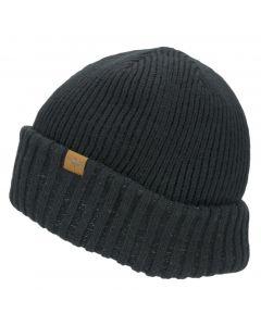 Sealskinz Black Roll Cuff Beanie Hat Unisex