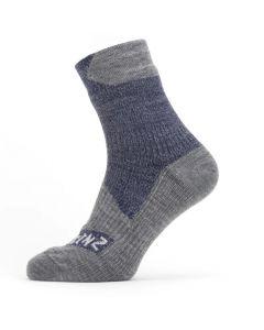 Sealskinz Waterproof Ankle Socks Navy / Grey Marl