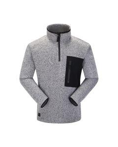 Skogstad Felden Mens Half-Zip Fleece Sweater in Casio Grey