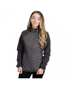 Trespass Underpinned Women's Quilted Fleece Jacket - Charcoal