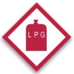 LPG Gas Warning Sticker