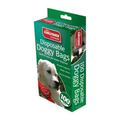 Disposable Doggy Poop Bags - Pack Of 100