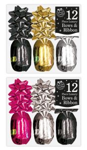 Luxury Christmas Bows & Ribbons Set - 12 Piece