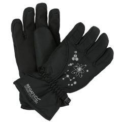 Regatta Kids Arlie II Waterproof Gloves - Black