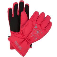 Regatta Kids Arlie II Waterproof Gloves - Bright Blush