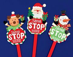 Santa Stop Here Sign - 68cm
