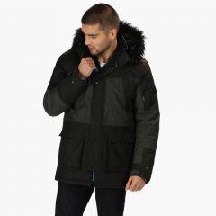 Regatta Men's Aalto Fur Trimmed Waterproof Insulated Jacket - Black