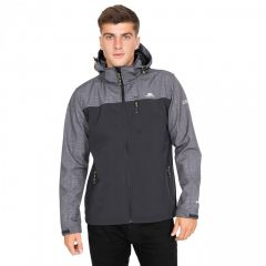 Trespass Abbott Men's Breathable Softshell Jacket - Dark Grey Marl