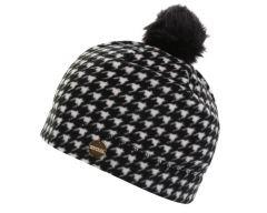 Regatta Azni Women's Printed Fleece Bobble Hat - Black Houndstooth