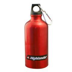 Aluminium Water Bottle With Karabiner Clip - 0.5 Litre
