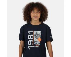Regatta Bosley III Kid's Printed T-Shirt - Navy 1981 Print