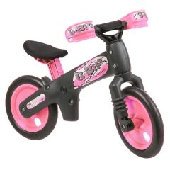 Bellelli Girls Balance Bike - Grey/Pink