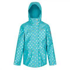 Regatta Kids' Bambalina Lightweight Waterproof Jacket - Ceramic Polka Dot
