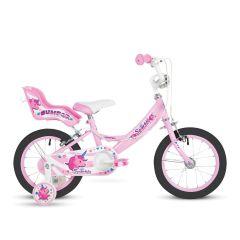 "Bumper Sparkle 14"" Wheel Girls Bike - Pink"