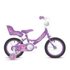 """Bumper Sparkle Girls Bike 14"""" Wheel - Purple"""