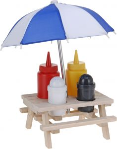 Camping Table Condiment Set