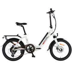 E-Scape Classic Electric Folding Bike in White