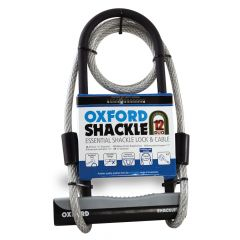 Oxford Shackle 12 Duo Cycle Lock - Shackle with Cable