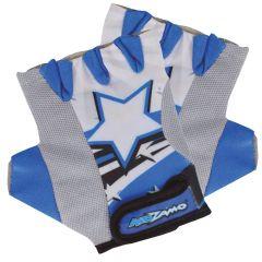 Kidzamo Childrens Cycling Gloves - Blue Stars