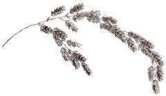 Silver Glitter Pine Cone Spray