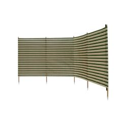 Deluxe 5 Pole Windbreak With Awning Channel Fixing - Green
