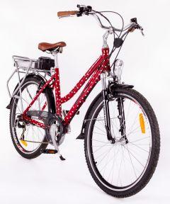 Roodog Polka Dot Electric Bike Red
