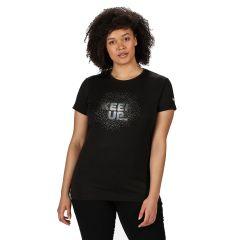 Regatta Fingal Women's V Graphic T-Shirt - Black