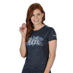 Regatta Fingal Women's V Graphic T-Shirt - Dark Denim