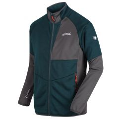 Regatta Men's Foley Hybrid Stretch Softshell Jacket - Deep Teal Magnet Grey