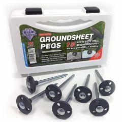 Steel Groundsheet Pegs - Pack of 15