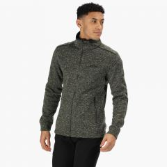 Regatta Men's Gerado Full Zip Two Tone Knitted Fleece - Bayleaf