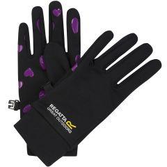 Regatta Kids Grippy Gloves - Black Viola