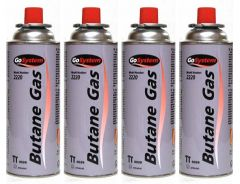 Butane Camping Gas Cartridge 220g - Pack Of 4