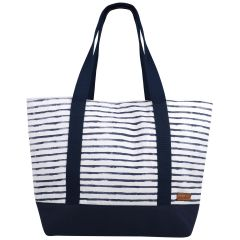 Hanalei Navy Stripe Shoulder Bag