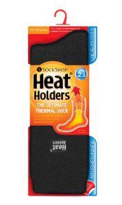 Heat Holders Mens Original Socks Charcoal (UK 6-11)