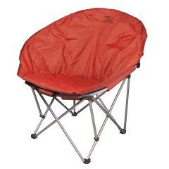 Highlander Camping Moon Chair Burgundy/Orange