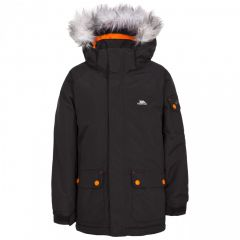 Trespass Holsey Boy's Waterproof Parka Jacket - Black