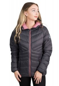 Trespass Julieta Women's Hooded Down Jacket - Grey