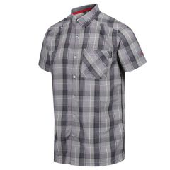 Regatta Men's Kalambo IV Short Sleeve Checked Shirt - Seal Grey