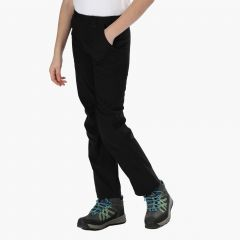 Regatta Kids' Dayhike II Breathable Stretch Walking Trousers - Black