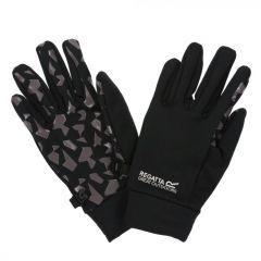 Regatta Kids' Grippy Gloves - Black Magnet Grey