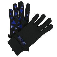 Regatta Kids Grippy Gloves - Black Oxford Blue