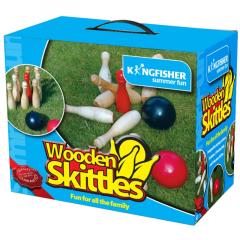 Wooden Skittles Game Set