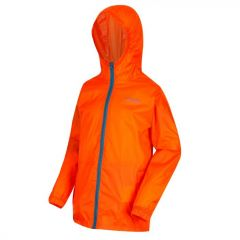Regatta Kids' Pack It Jacket III Waterproof Packaway - Blaze Orange