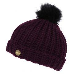 Regatta Women's Lovella II Chunky Knit Bobble Hat - Prune