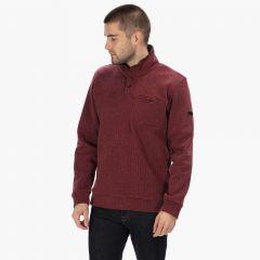 Regatta Men's Lochran Button Neck Fleece - Burgundy