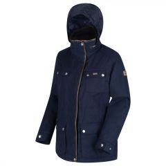 Regatta Women's Lizbeth Waterproof Insulated Jacket With Concealed Hood - Navy