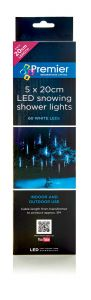 LED Snow Shower Low-Voltage LED Indoor / Outdoor Christmas Lights - 5 x 20cm
